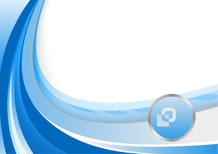 Blue abstract vector background; clip-art Vector
