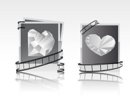snapshots: black-white snapshots with diamonds.  Illustration