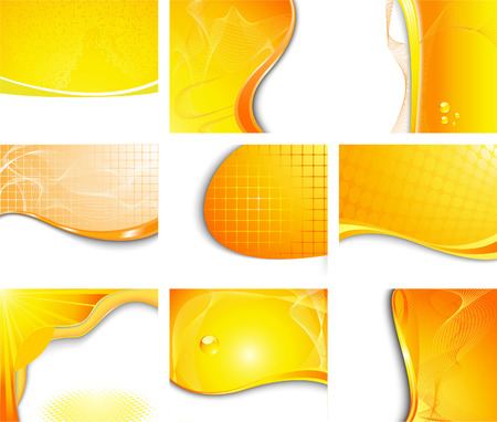 Orange backgrounds collection; clip-art Illustration
