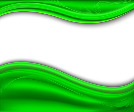 Abstract green background - wave; clip-art
