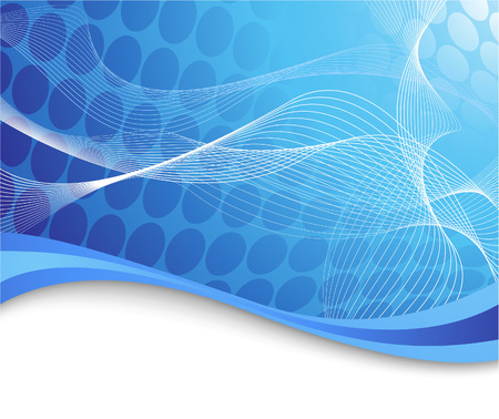 Blue high-tech background with waves. Vector illustration