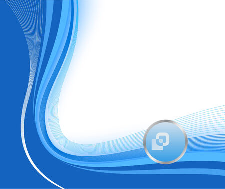 certify: Blue technological background; clip-art Illustration