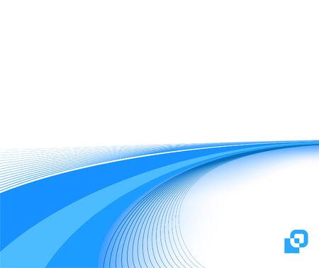 blue business background template; clip-art Illustration