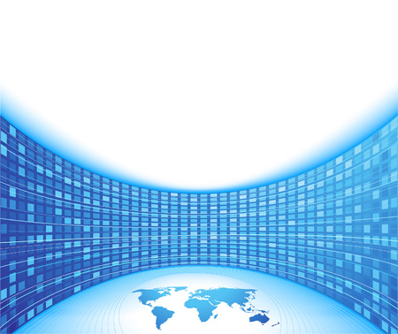 Unique business concept - blue card. illustration Stock Vector - 6465089