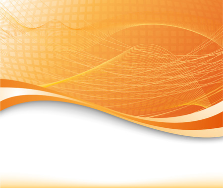 Sunburst background in orange color textured; clip-art Vector