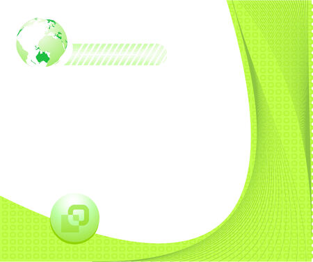 Certificate green background.  illustration