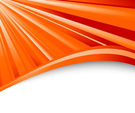Abstract orange ray background.  illustration