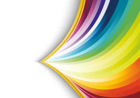 Abstract rainbow arrow banner.  illustration