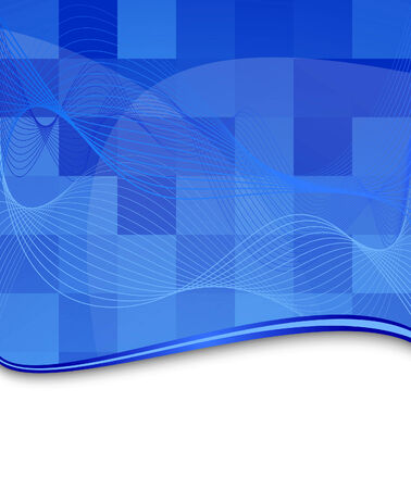Blue tile background template. Illustration