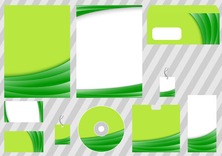 Green business corporate template.  illustration Vector