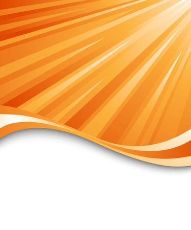 Orange ray background Vector