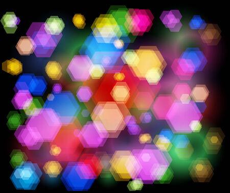 Unfocused night light - highway sparkles.  Vector