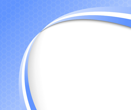 Abstract blue background template. illustration Vector