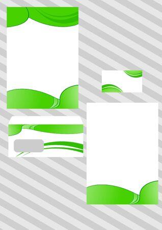 Corporate ecological design template. illustration Vector