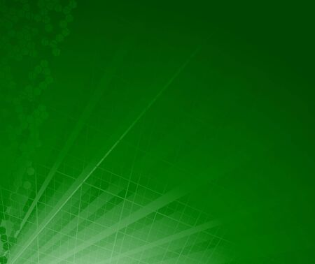 Green abstract ray background. Clip-art Vector