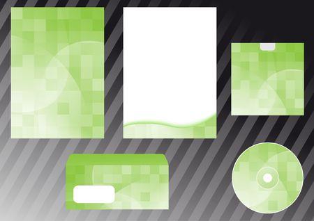 Green business design elements. Clip-art Vector