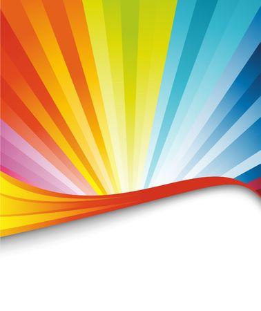 Colorful rainbow birthday banner. illustration