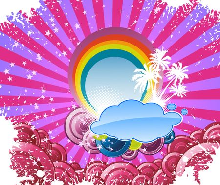 Colorful summer disco banner. Stock Vector - 6844722