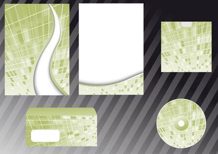 Corporate design elements templates. illustration Vector