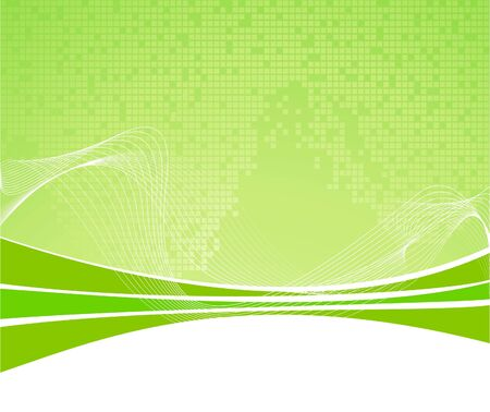 Green abstract background with texture Vector