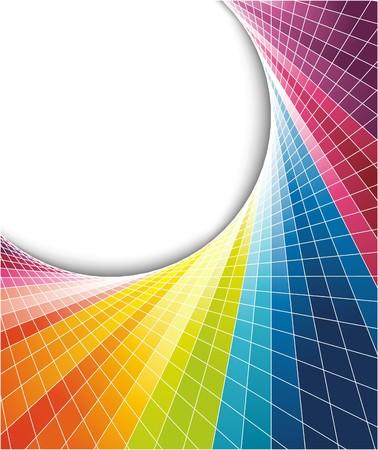 geometria: Arco iris fondo multicolor con efecto �ptico. Ilustraci�n