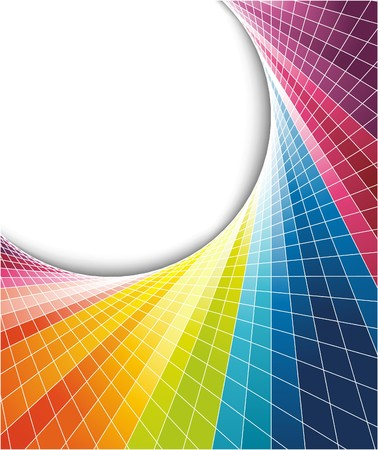 Rainbow colorful background with optical effect. illustration Vector