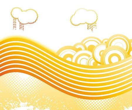 retro disco: Banner de discoteca retro de verano. Ilustraci�n