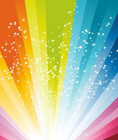 Abstract rainbow birthday banner.  illustration