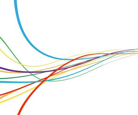 arcobaleno astratto: Onda astratta arcobaleno colorato. illustrazione Vettoriali