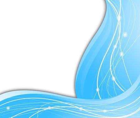 High-tech blue background. illustration Vector