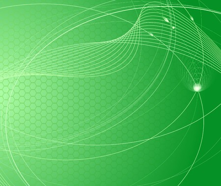 flujo de datos: Ciencia y tecnolog�a de fondo verde abstracta. Ilustraci�n