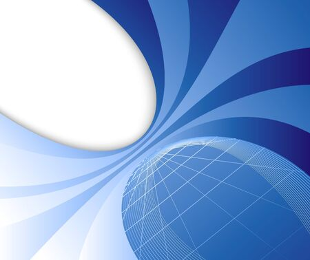 Blue abstract perspective banner.  illustration Vector