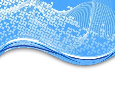 lineal: Plantilla de fondo azul de alta tecnología. Ilustración