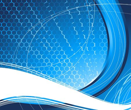 Blue technology abstract background. illustration