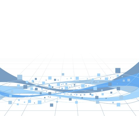 geometrical shapes: Geometrical background with waves. illustration Illustration
