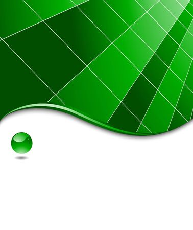 Green abstract high-tech business template.  illustration