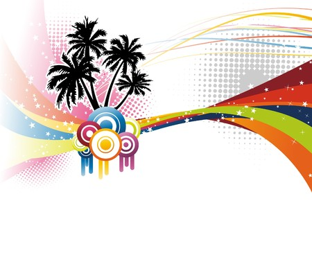 Music colorful rainbow wave.  illustration Illustration