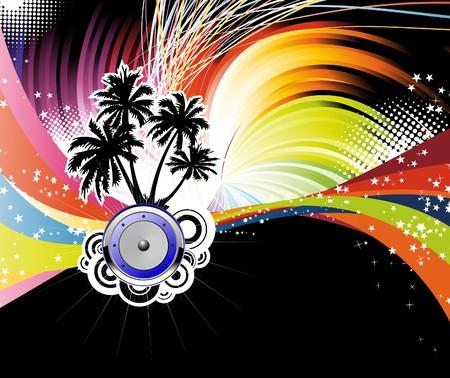 Night disco poster.  illustration Vector