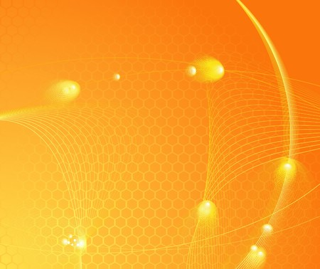 Sunburst high-tech template.  illustration Vector