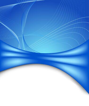 lineal: Plantilla de banner futurista azul. Ilustración vectorial