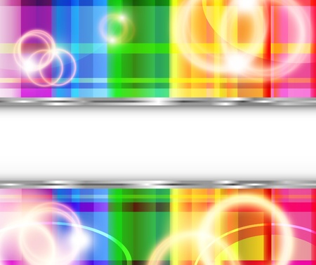 Rainbow background with flares. illustration Stock Vector - 8340326