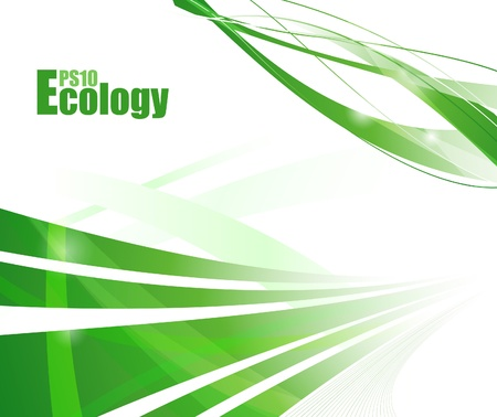 Ecology concept background. Vector illustration Vector