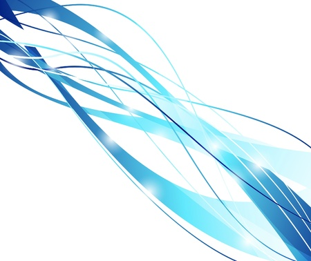 Futuristic abstract blue line concept. Vector illustration Stock Vector - 8413946