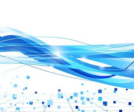 Transparent abstract blue wave background. Vector illustration