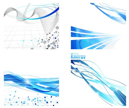 Colección de fondos futurista. Ilustración vectorial
