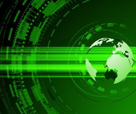 Planet earth green concept. Vector illustration Stock Vector - 8463070