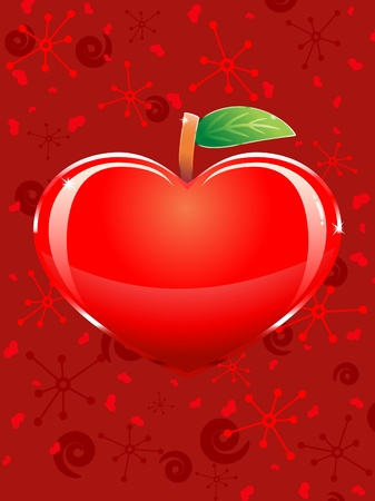 Apple-shaped heart. Vector illustration Vector