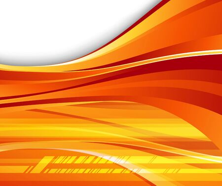 Futuristic orange background - speed. Vector illustration