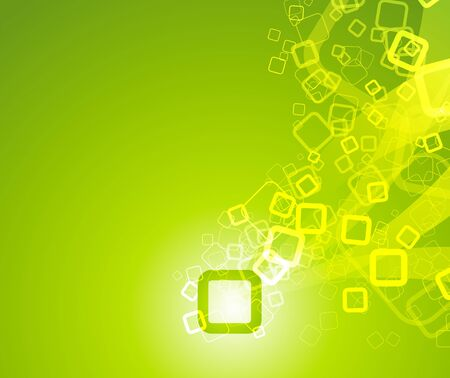 particle: Particle flowing - green background. Vector illustration