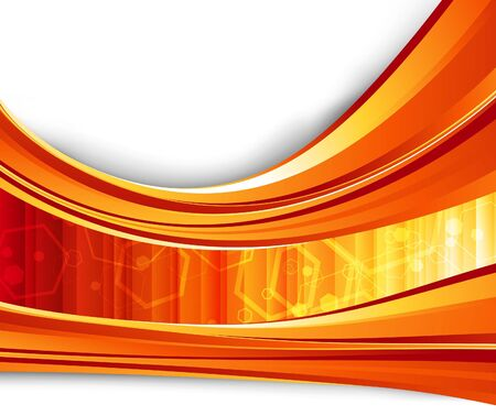 Red flare energy. Vector illustration Vector